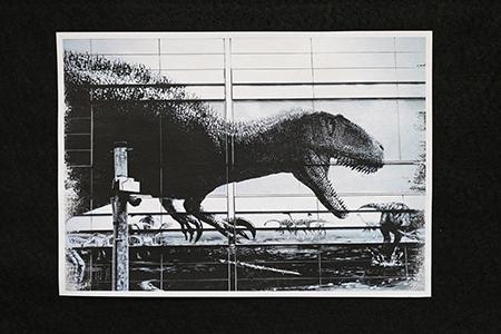 和紙で恐竜