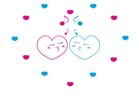 LOVE×2なハート