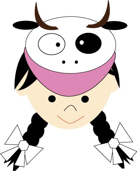 牛(の帽子の)女